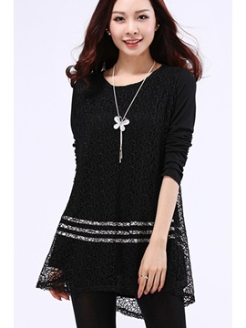 Solid Color Sequin Long Sleeve T-Shirt