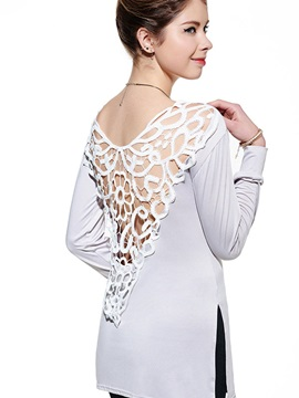 Special Lace Back Slim T-Shirt