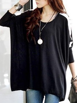 Special Decoration Batwing Sleeves T-Shirt