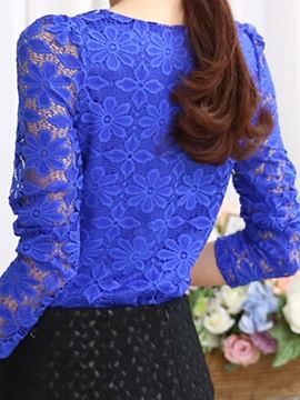 Special Lace Sleeves Slim Work T-Shirt
