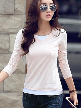 Casual Double-Layer Slim T-Shirt