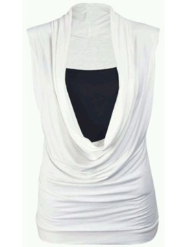Stylish Heap Collar Slim T-Shirt
