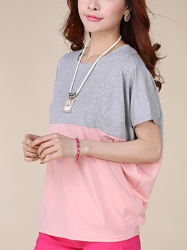 Pleasant Assorted Color Batwing Sleeve T-Shirt