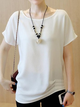 Special Bowknot Decoration Back T-Shirt