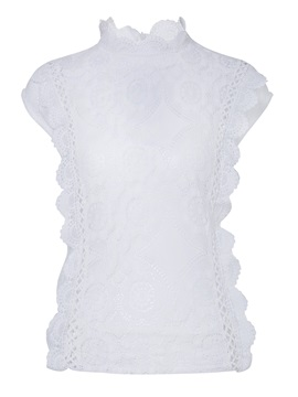 Chic Lace Collar Sleeveless T-Shirt