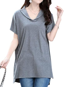 Special Collar Slim Knitting T-Shirt