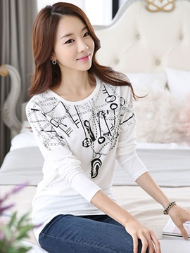 Special Pattern Batwing Sleeves T-Shirt