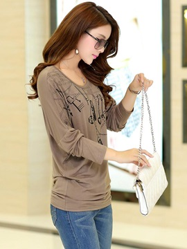 Casual Batwing Sleeves T-Shirt