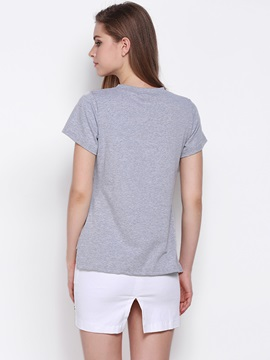 Special Letter Pattern Short T-Shirt