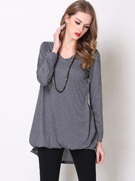 Special Hem Long Sleeves T-Shirt