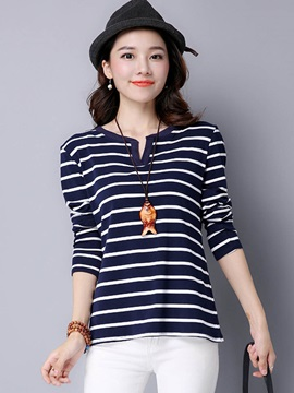 Simple Stripe Long Sleeve T-Shirt