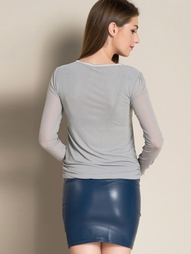 Stylish Pure Color Round Neck T-Shirt