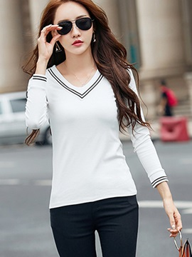Stylish V-Neck Slim T-Shirt