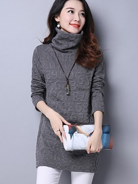 Stylish Turtleneck Slim T-Shirt