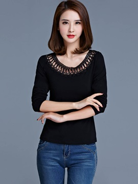 Stylish Hollow Slim T-Shirt