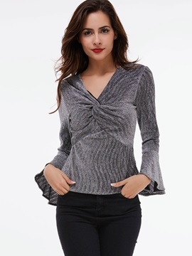 Stylish Flare Sleeve Slim T-Shirt