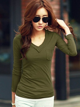 Stylish V-Neck Slim Standard T-Shirt