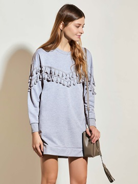 Stylish Drop Shoulder Tassel T-Shirt