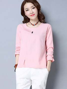 Chic Solid Color Loose T-Shirt