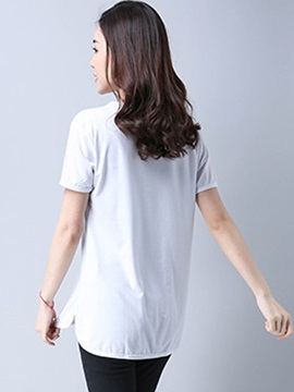 Loose Print Short Sleeve T-Shirt