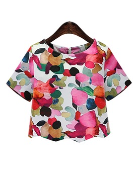 Stylish Colors Print T-Shirt