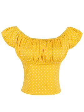 Stylish Slim Polka Dots T-Shirt