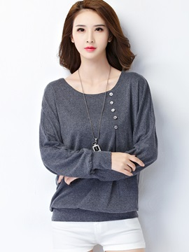 Long Sleeve Round Neck LooseT-Shirt