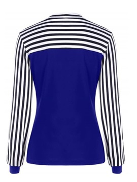 Long Sleeve Stripe Bowknot Casual Slim Women's T-Shirt