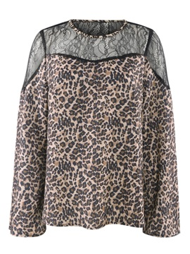 Leopard Long Sleeve Plus Size Sexy Straight Women