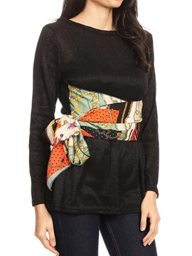 Mid-Length Floral Round Neck Spring Casual Women's T-Shirt