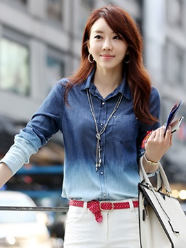 Stylish Gradient slim shirt