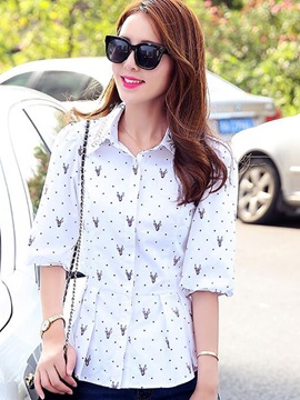 Special Polka Dots Half Sleeves Shirt