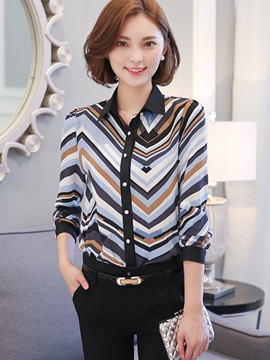 Chic Print Long Sleeve Shirt