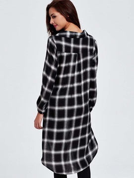 Loose-Fit Plaid Over-Sized Women Shirt