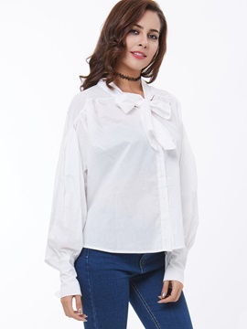 Glamour Tie-Neck Loose-Fit Women's Shirt