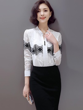 Stylish Front Print Slim Shirt