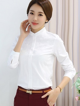 Chic Embroidery Plain OL Shirt