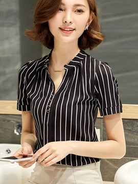 Slim Stripe Short Sleeve Shirt