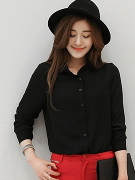 Stylish Plain Loose Shirt