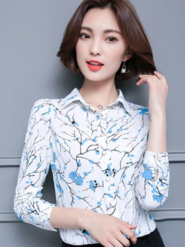 Slim Lapel Print Shirt