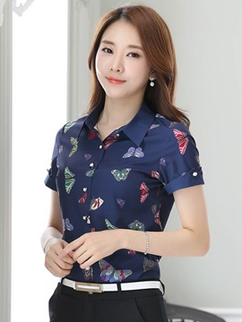 Slim Lapel Floral Shirt