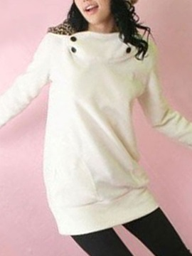 Comfortable Korean Style Leopard Cotton Hoodie