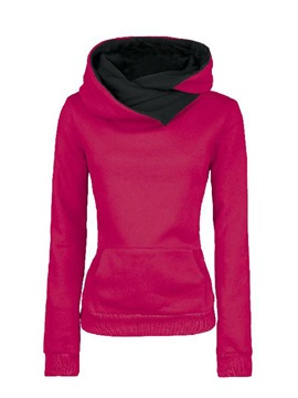 Autumn Vogue Plus Size Turtle Collar Cotton Hoodie