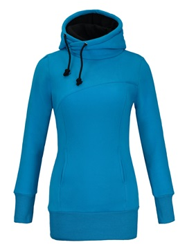 New Fashion Top Quality Pure Color Slim Hoodie