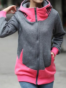 Plus Size Long Sleeve Joint Hoodie