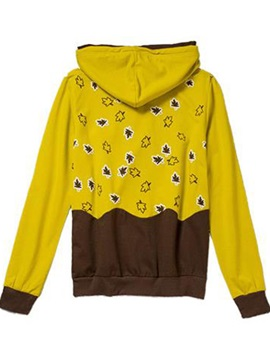 Cute Pattern Hooded Short Hoodie