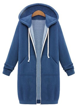 Lace up Hooded Straight Hoodie