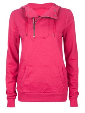 Stylish  Zipper  Decoration  Collar  Hoodie