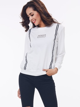 Stylish Front Print Loose Hoodie