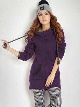 Stylish Multi Color Mid-Length Hoodie